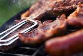 Barbecue closeup — Stock Photo