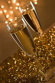 Two champagne flutes. — Stock Photo