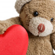 Valentine&#039;s Teddy Bear. - Stock Photo