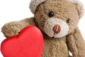Valentine's Teddy Bear. — Stock Photo