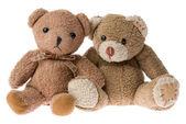 Dois ursos de pelúcia — Fotografia Stock