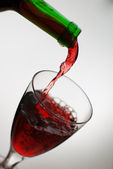 Pouring wine — Stock Photo