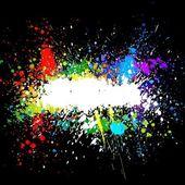 彩色油漆溅。渐变向量 — 图库矢量图片