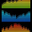 Vector digital equalizer — 图库矢量图片