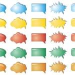 Colour bubbles collection — Stock Vector