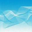 Vector blue waves background — Stock Vector