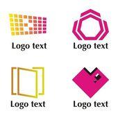 Uppsättning av fyra logotyp — Stockvektor
