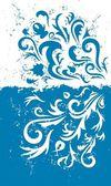 Grunge blue background — Stock Vector