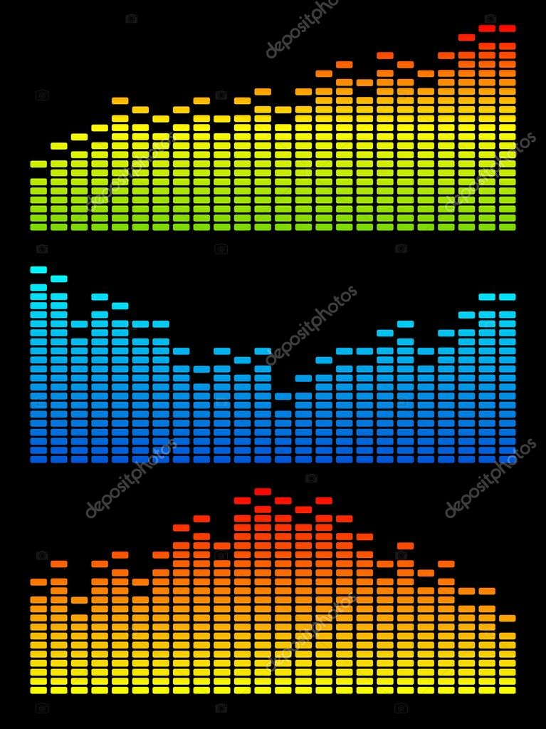 Vector digital equalizer. Volume wave background. — Stock Vector #1916358