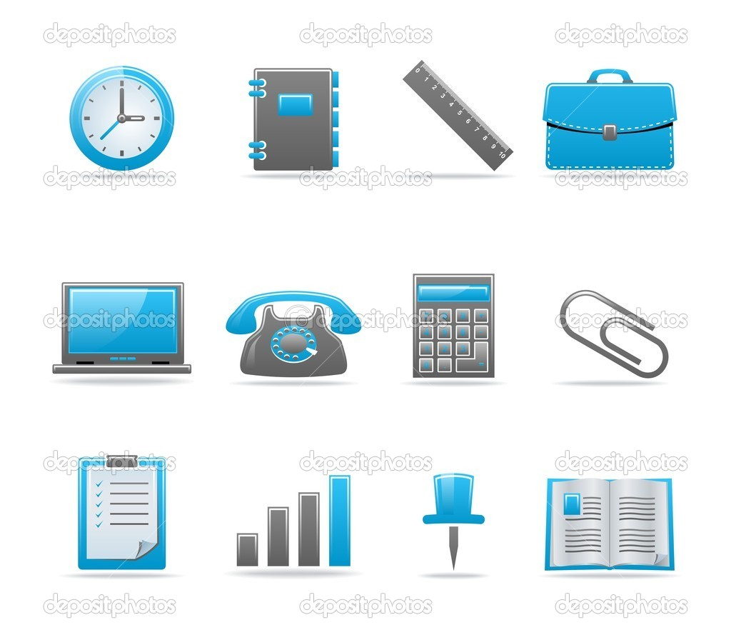 Set of 12 glossy web icons. Shopping, business and money icon set. Part 3. (see other in my portfolio)  Stock Vector #1916366