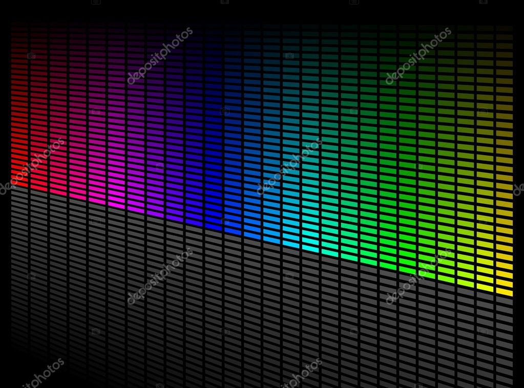 Vector digital equalizer. Volume wave background. — Stock Vector #1916367
