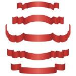 Ribbon set — Stock Vector