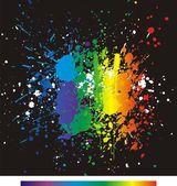 Color paint splashes. Gradient vector — Stock Vector