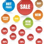 Set of shopping vector tags — Stock Vector #1941832