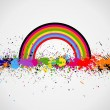 Color paint splashes background — 图库矢量图片