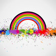 Color paint splashes background — Stockvektor