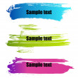 Royalty-Free Stock Vector Image: Color paint grunge banners