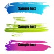 Stock Vector: Color paint grunge banners