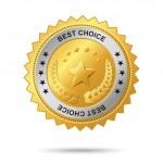 Best choice golden label. — Stock Vector