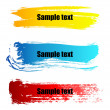 Color paint grunge banners — Stock Vector #2084996