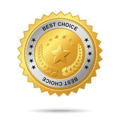 Best choice golden label. — Stock Vector
