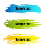 Color paint grunge banners — Stock Vector