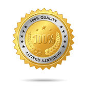 Guaranty quality golden label — Stock Vector