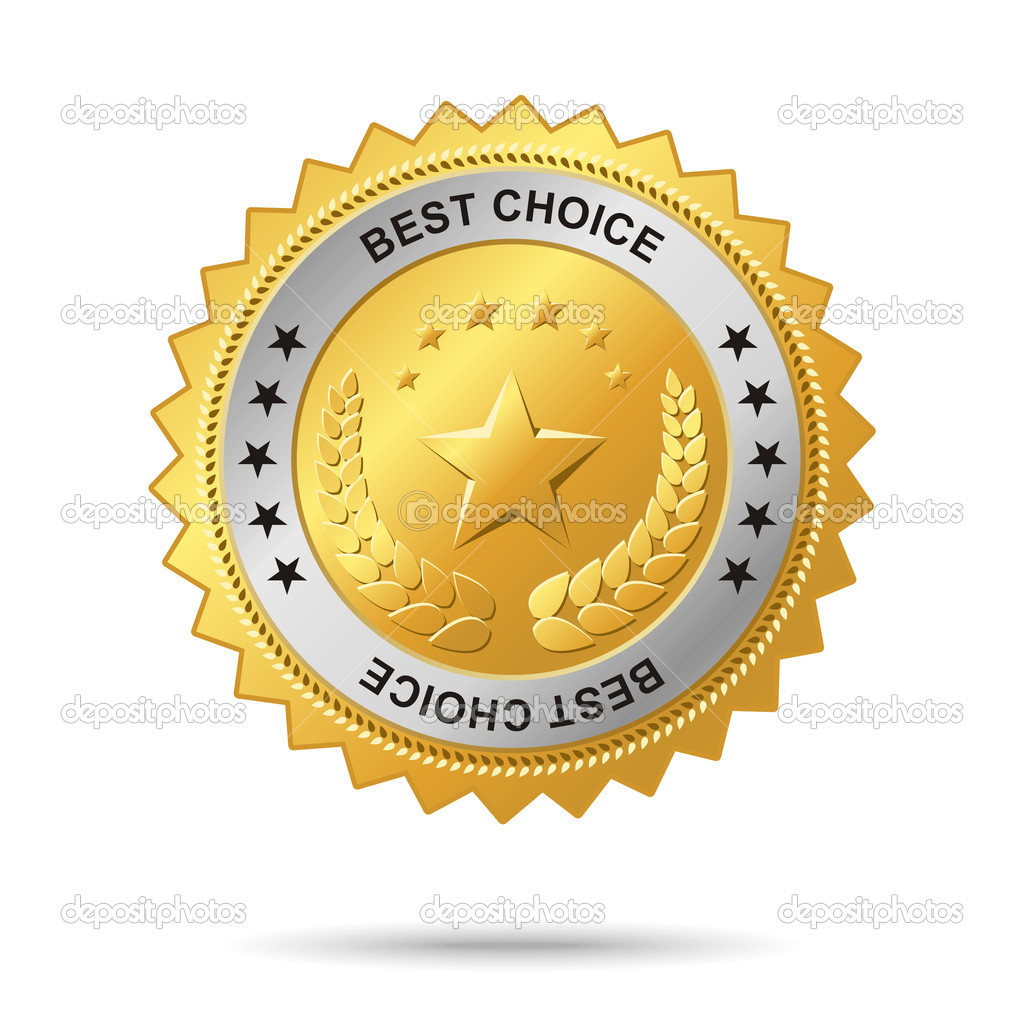Vector golden badge named Best choice for your business artwork.  Stock Vector #2084973