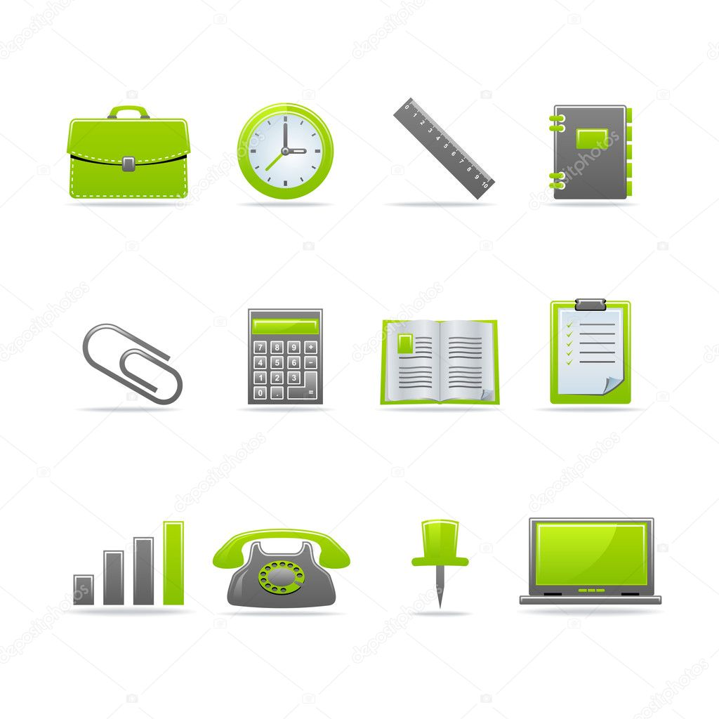 Set of 12 glossy web icons Part 2 (see other in my portfolio). — Imagens vectoriais em stock #2125749