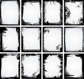 Grunge ram samling — Stockvektor