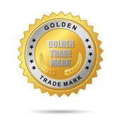 Golden trade mark label — Stock Vector