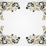 Grunge floral frame — Stock Vector #2216454
