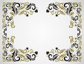 Grunge floral frame — Stockvektor