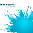 Royalty-Free Stock Imagem Vetorial: Blue paint splashes background