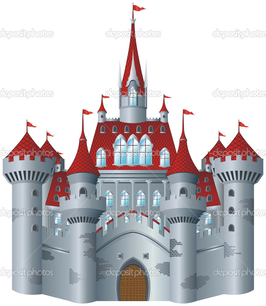 Fairy-tale castle on white background.   #2288690