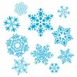 Vector set of snowflakes - Stok Vektr