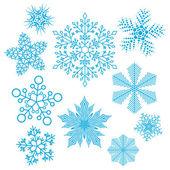Vector set of snowflakes — Stock Vector
