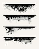 Set of grunge edges — Stock Vector