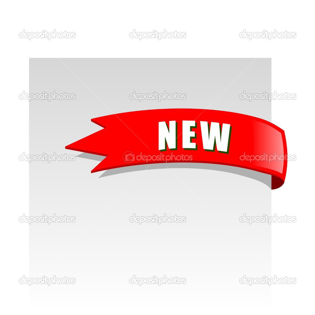 New red corner business ribbon — Stock Vector © Designer ...