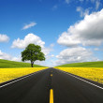 The road forward — Stock Photo