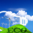 eco energy concept — Stock Photo
