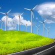 The global wind energy — Stock Photo