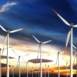 Stock Photo: Wind power generating mills