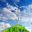 Wind turbines, eco energy — Stock Photo