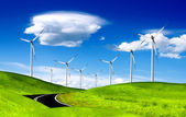 Alternative energy, windmill — Stock Photo
