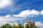 Castle on cloudy sky, Niedzica, Poland — Stock Photo