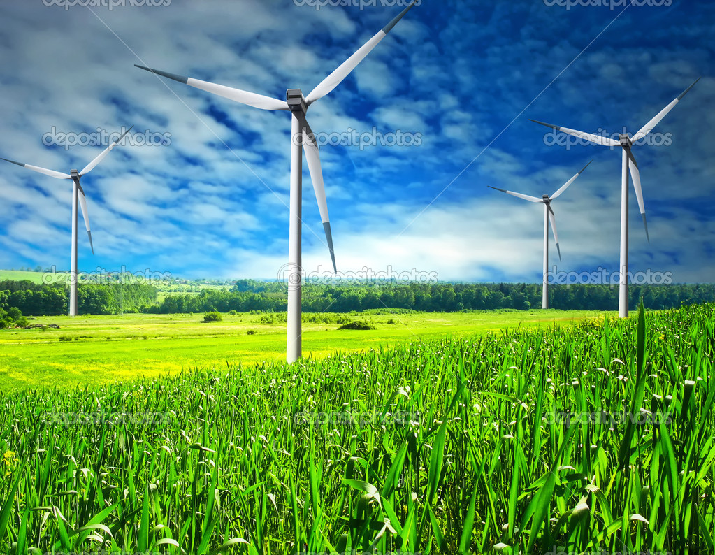 Wind energy  Stock Photo #1884076
