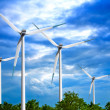Wind turbines farm — Stock Photo #2384277