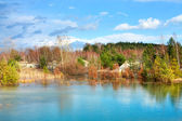 Picturesque small lake — Stockfoto