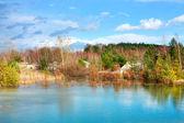 如诗如画的小湖 — 图库照片